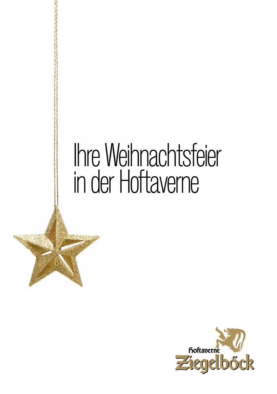 Angebot Weihnachtsfeier.Hoftaverne Ziegelböck Seminare Seminarhotel